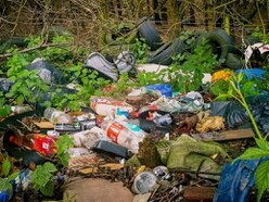 Fly-tippers dump mountain of rubbish on the edge of Telford