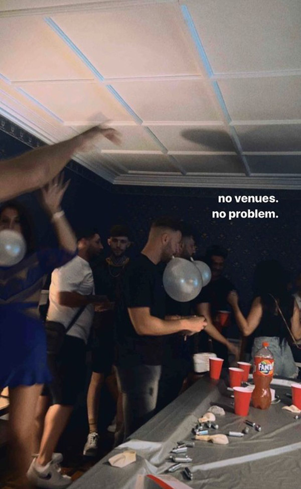 """""""No venues, no problem."""" Another picture from the party"""