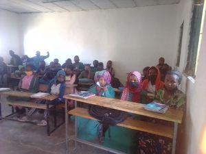 Students at the Ethiopian primary school