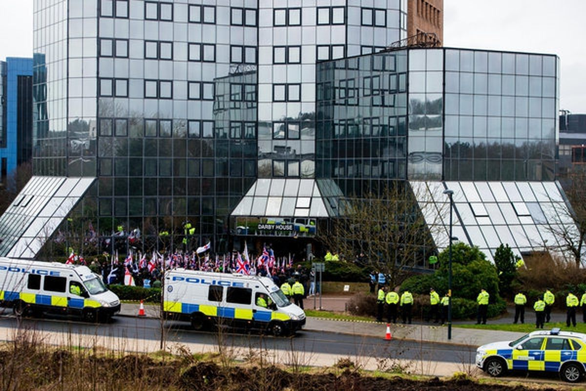 Britain First protest in Telford