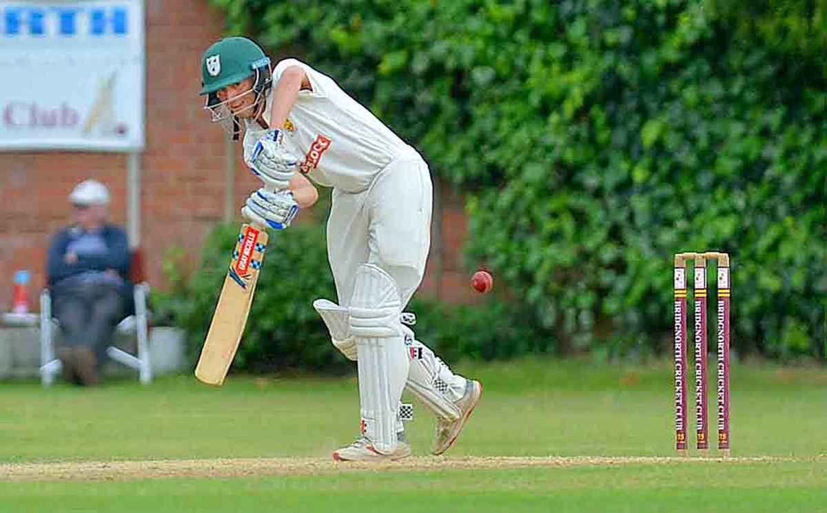 Xavie Clarke batting on his Shropshire debut against Cornwall