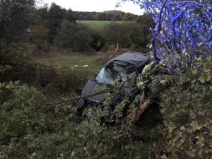 The scene of the crash. Picture: West Midlands Ambulance Service