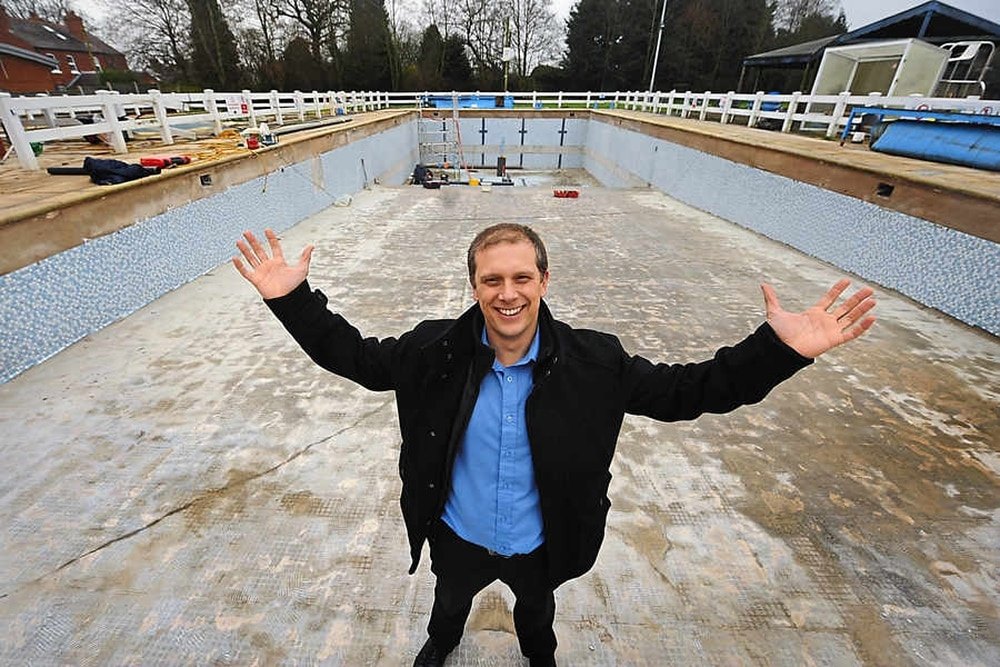 Highley pool refurb under way thanks to 30k from the for Pool designs under 30000