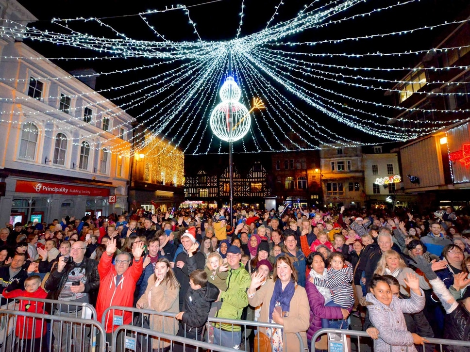 GALLERY: Thousands watch as Shrewsbury Christmas lights switched on