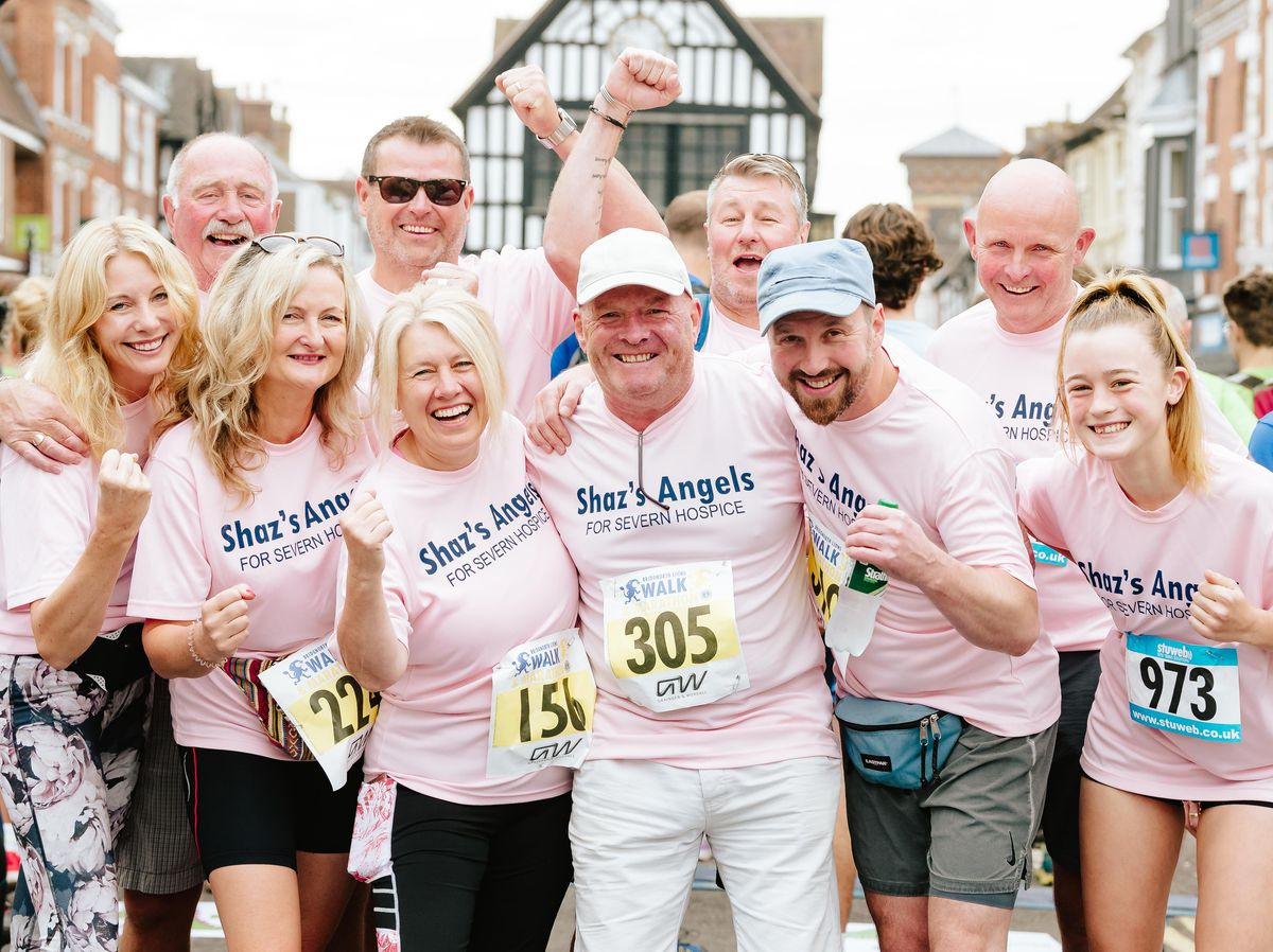 In the pink – Shaz's Angels raised money for Severn Hospice at the annual event