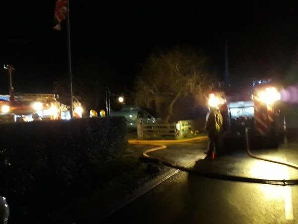 Firefighters tackle business blaze near Whitchurch