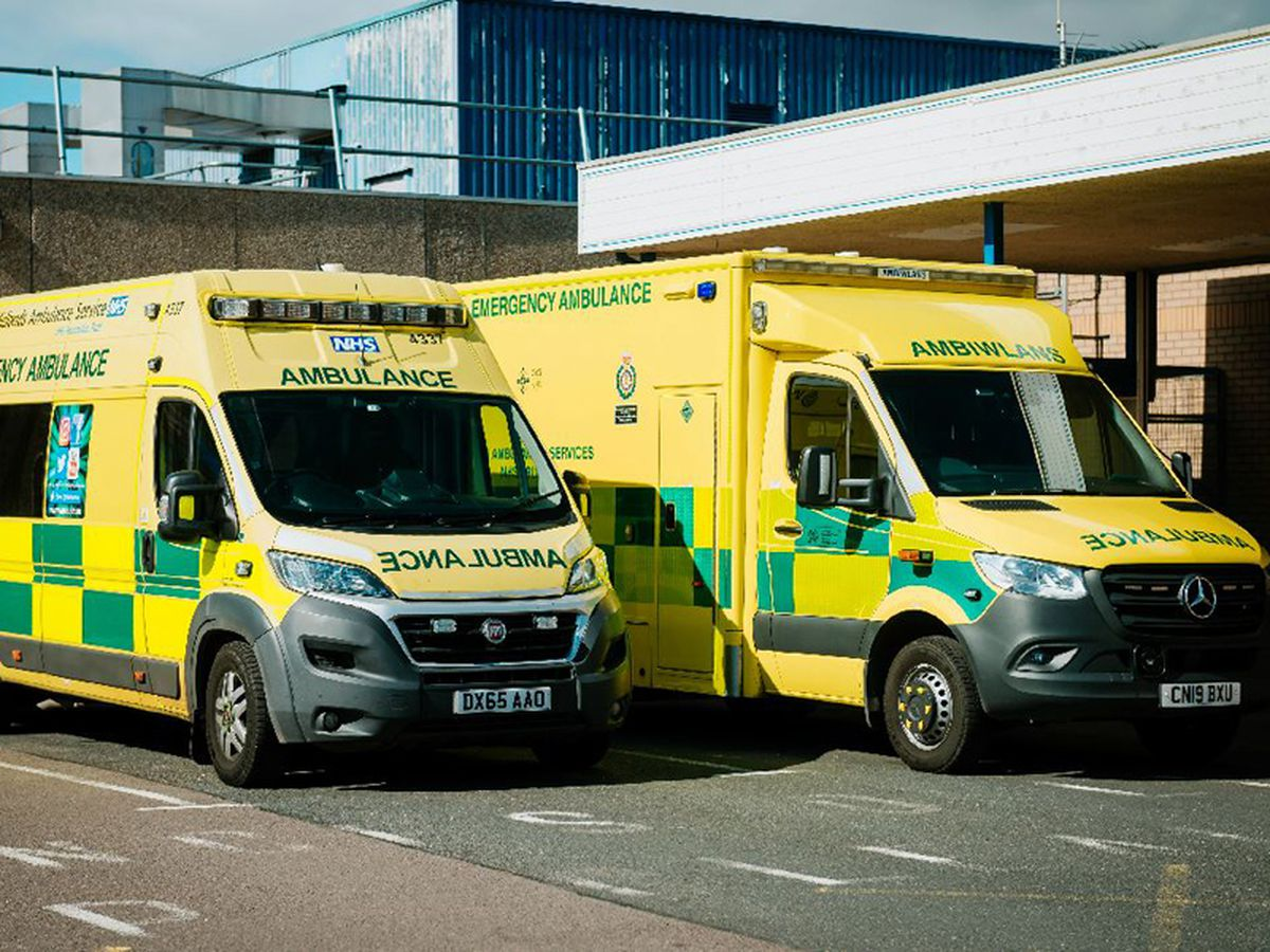 Ambulances at Royal Shrewsbury Hospital