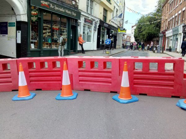 High Street in Shrewsbury will again be closed from the top of Wyle Cop