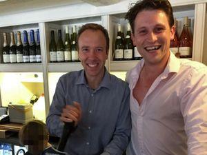 Health Secretary Matt Hancock pulls a pint at Alex Bourne's former pub