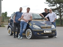 Goldblinger! Telford pals in the slow lane 007-style for charity