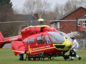 An air ambulance was seen landing in Harlescott at about 4.20pm. Photo: Andrew Grimstead