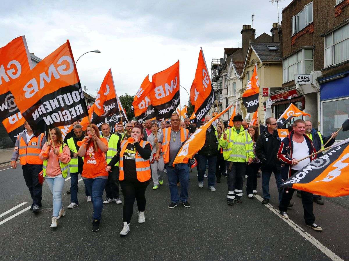 GMB protesters