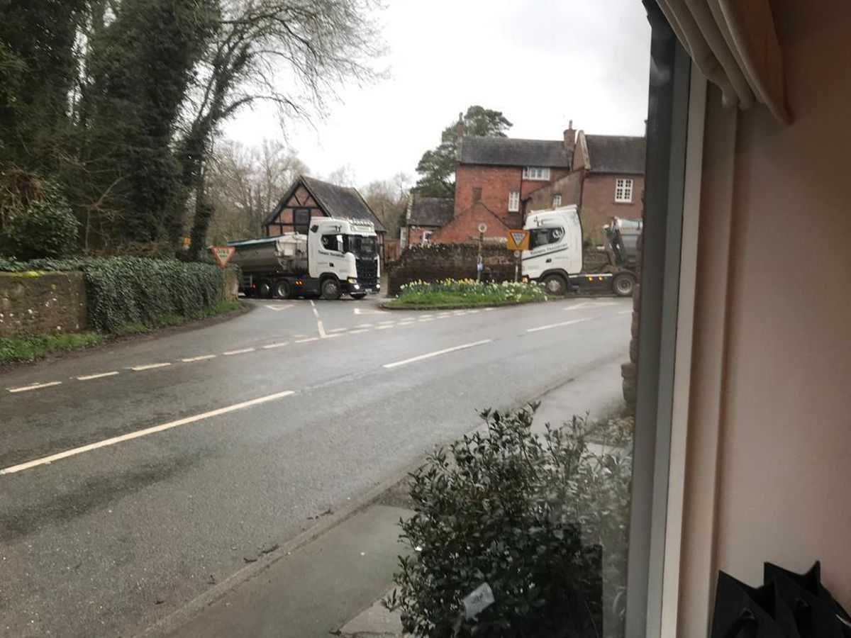 Residents have complained that the narrow roads of Condover are unsuitable for heavy goods vehicles