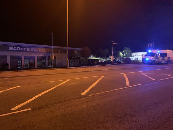 The McDonald's in Battlefield Road after complaints from people that they felt unwell. Photo: Arran McCabe