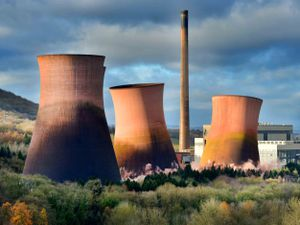 The cooling towers in Ironbridge were demolished in 2019