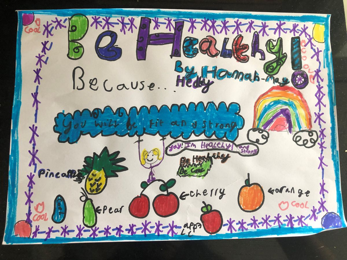 The winning effort from Treowen Primary School pupil Hannah-May Hedley