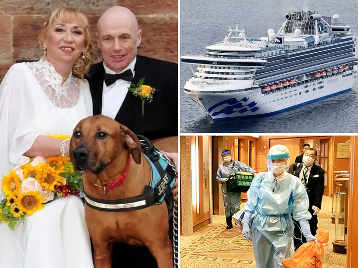 Alan Steele and his wife Wendy have been onboard the Diamond Princess cruise ship
