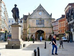 Games, grass and deckchairs as 'village square' comes to Shrewsbury