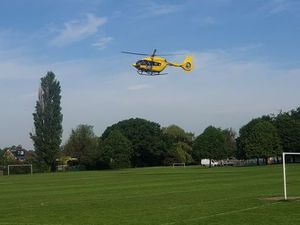 The air ambulance over Bowring Park, Wellington. Photo: Dave Windley
