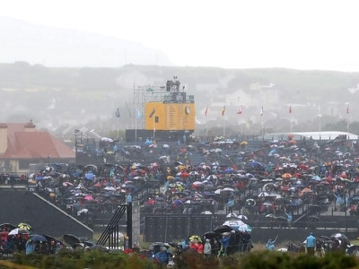 Rain not spoiling the party as golf's Open returns to Portrush