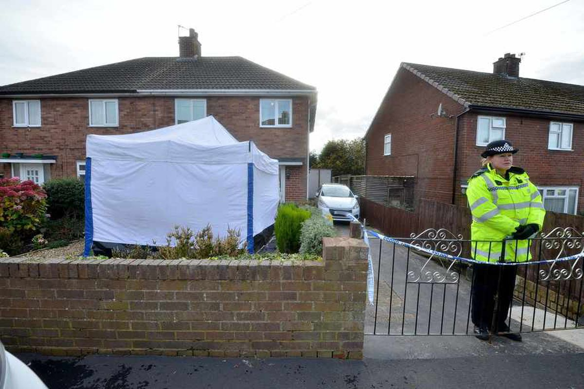 Police on the scene at Sixth Avenue in Ketley Bank