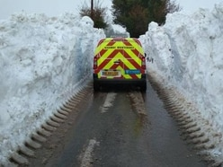 Shropshire weather: Road remains closed due to 'increasingly unstable' snow drifts