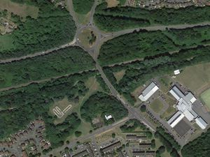 Water mains in Castlefields Way, centre, will be replaced close to Woodside Avenue and towards the roundabout near Madeley Academy. Image: Google