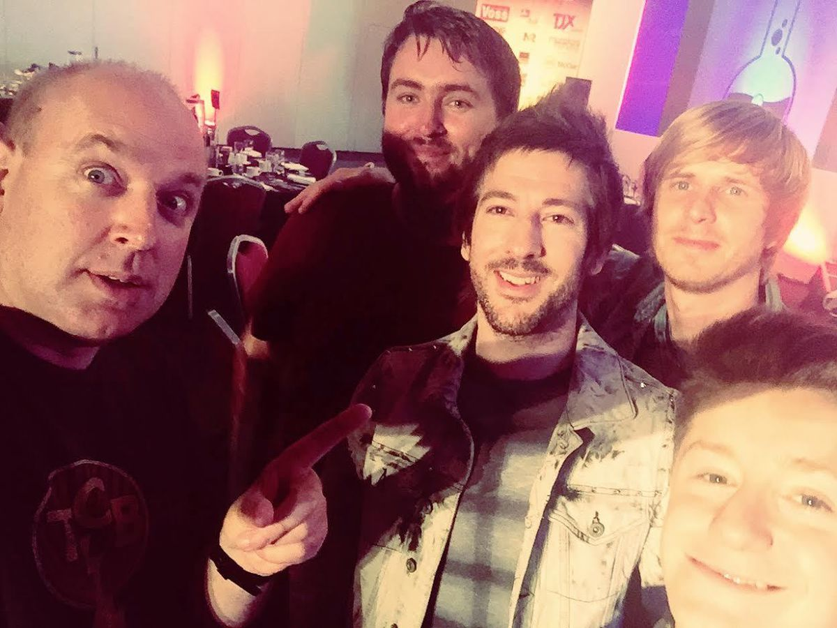 Band selfie with Tim before the awards
