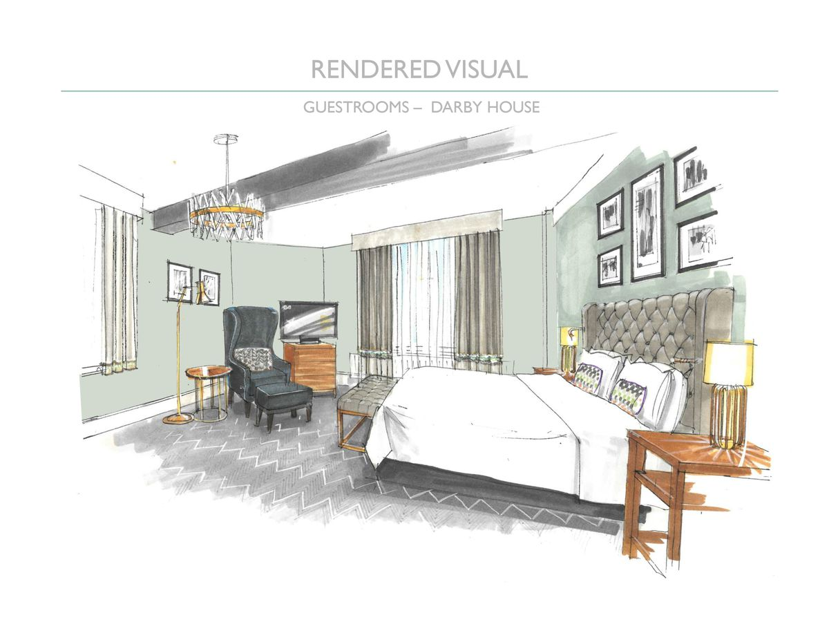 Artist's impression of a Guest Room