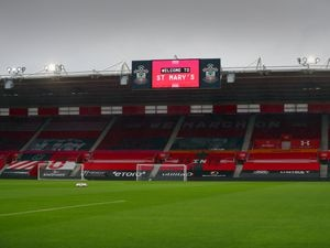 GV / general view of the pitch at St Marys home of Southampton FC. (AMA)