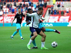 England's Jack Grealish and Austria's David Alaba