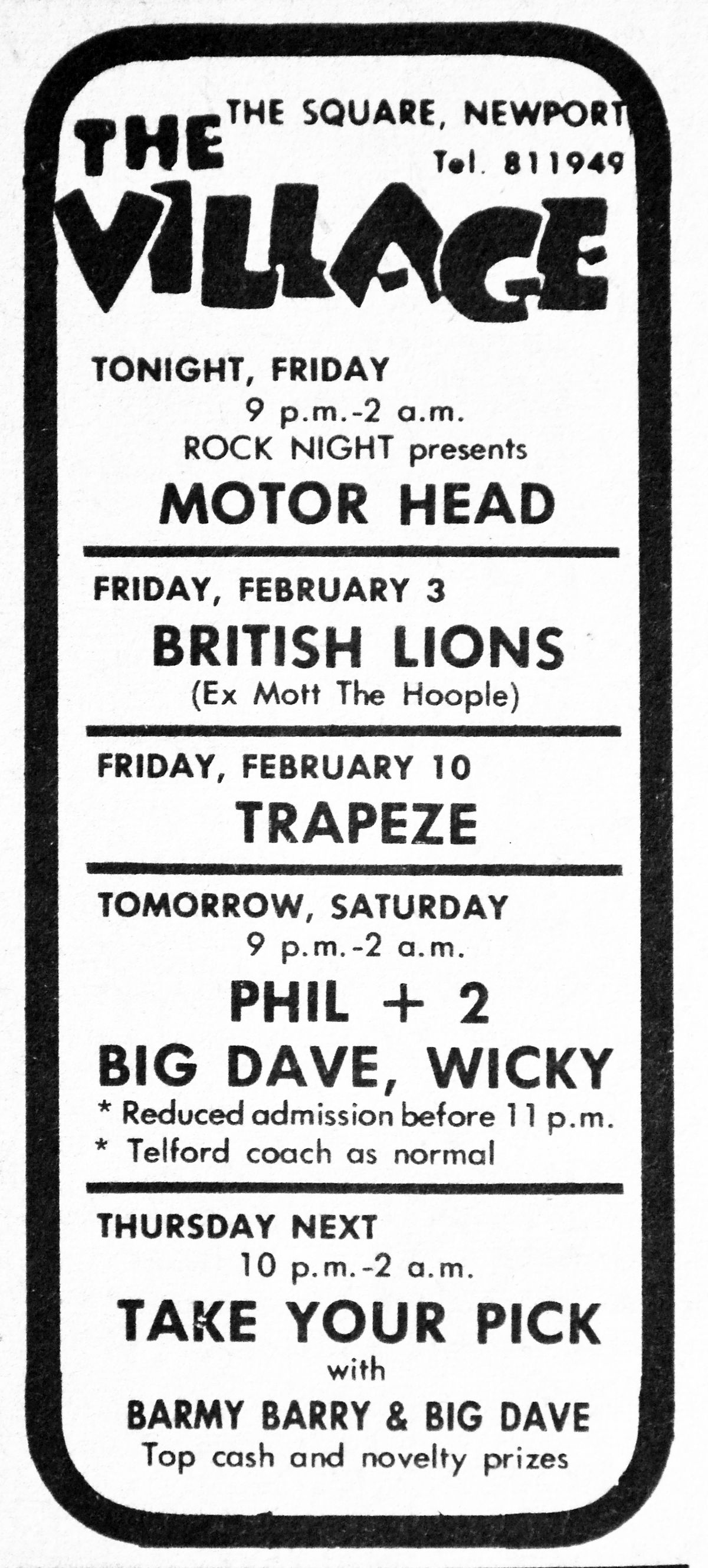 Worst gig ever? Motorhead at The Village, January 27, 1978.