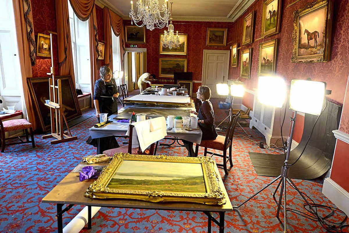 Video and pictures: Painstaking conservation work on Weston Park treasures