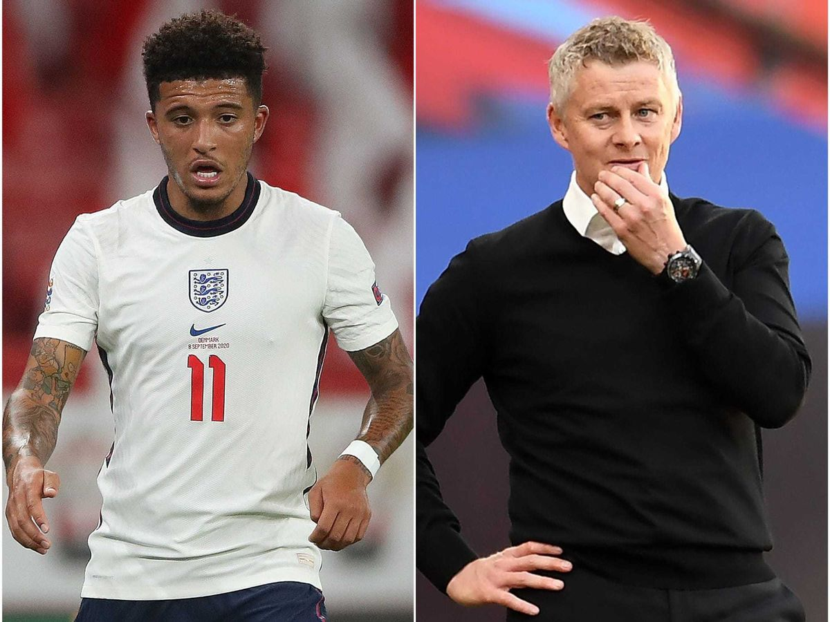 Ole Gunnar Solskjaer remained tight-lipped on Jadon Sancho
