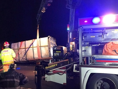 Cows rescued from overturned trailer in Market Drayton