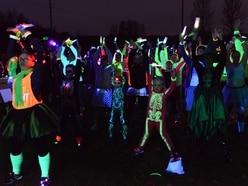 Glow in the dark charity castle run