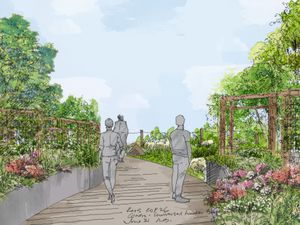 Artist illustration of a Cop26 garden