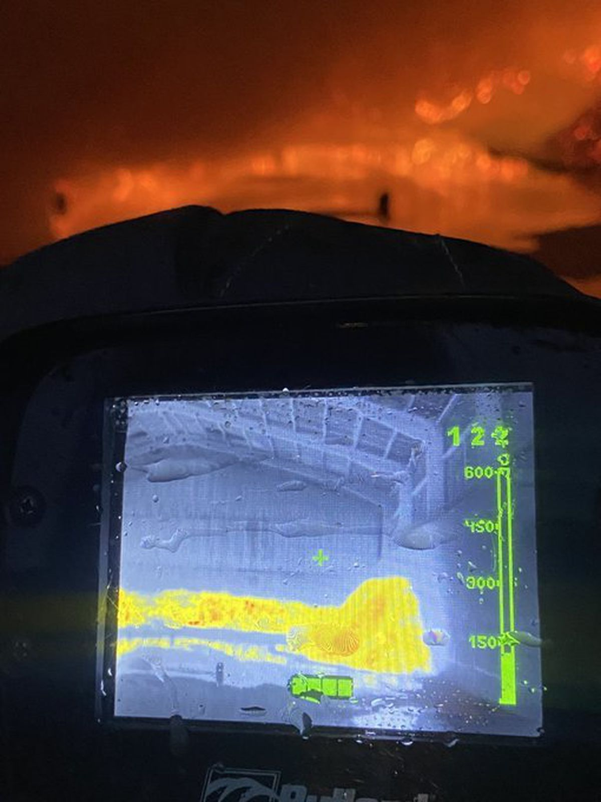 Thermal imaging showing the heat of the fire. Photo: SFRS_MDrayton