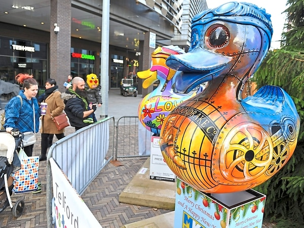 Telford's Christmas market is quacking as giant ducks return