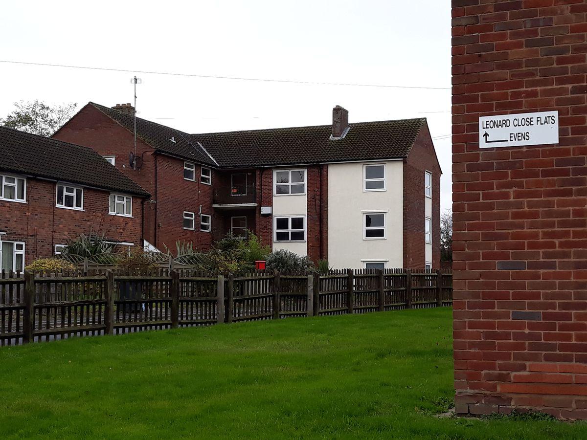 The flats in Leonard Close
