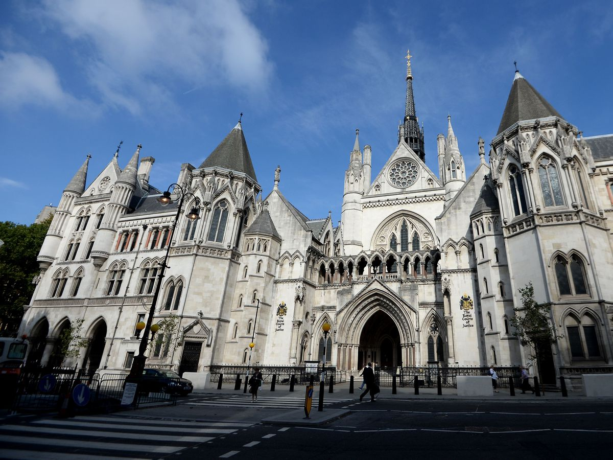 General view of the Royal Courts of Justice on The Strand in London (Andrew Matthews/PA)