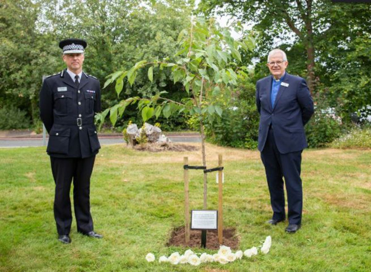 Chief Constable Anthony Bangham and The Rev Dick Johnson