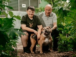 Volunteers Alan and Charlie are dogs' best friends