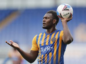 Aaron Pierre of Shrewsbury Town. (AMA)