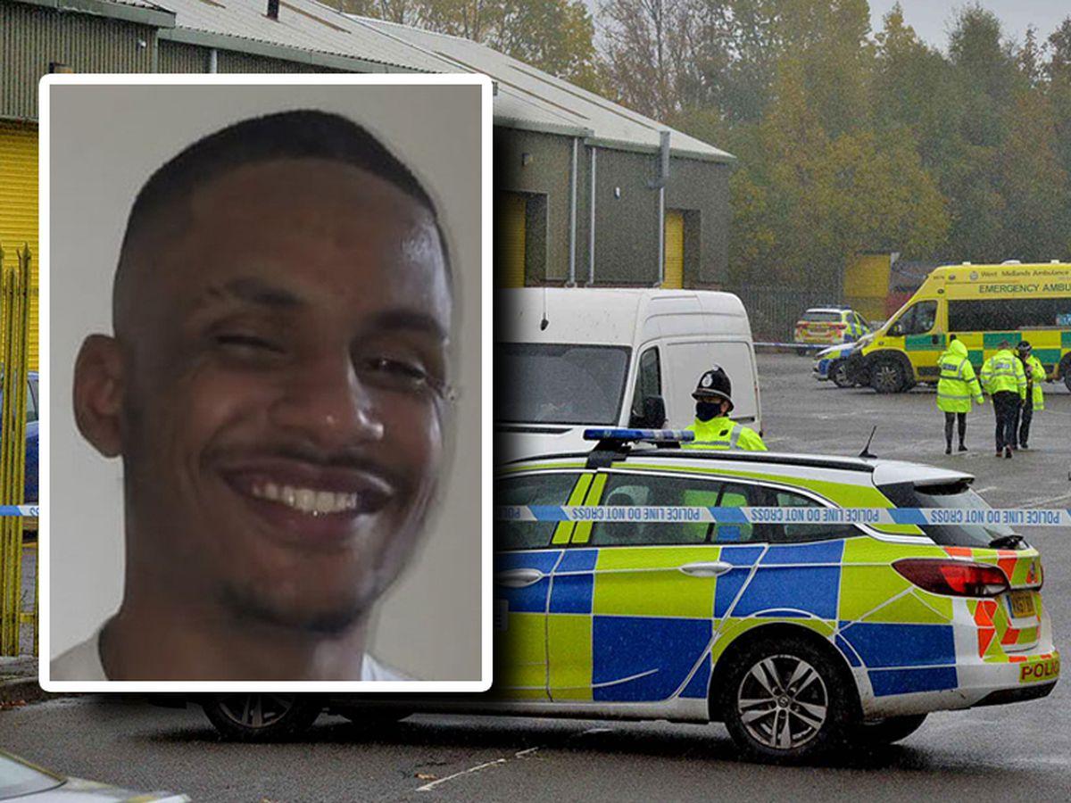 Tamba Momodu, inset, was shot dead at Bridges Business Park in Horsehay, Telford