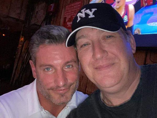 Dean Gaffney with Albert's Shed DJ Pat Starr