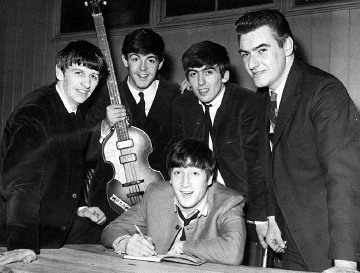 No pictures have turned up of The Beatles at their first Shrewsbury gig, but they were to return to play the Music Hall a few months later, as in this picture courtesy of Dave Wallace