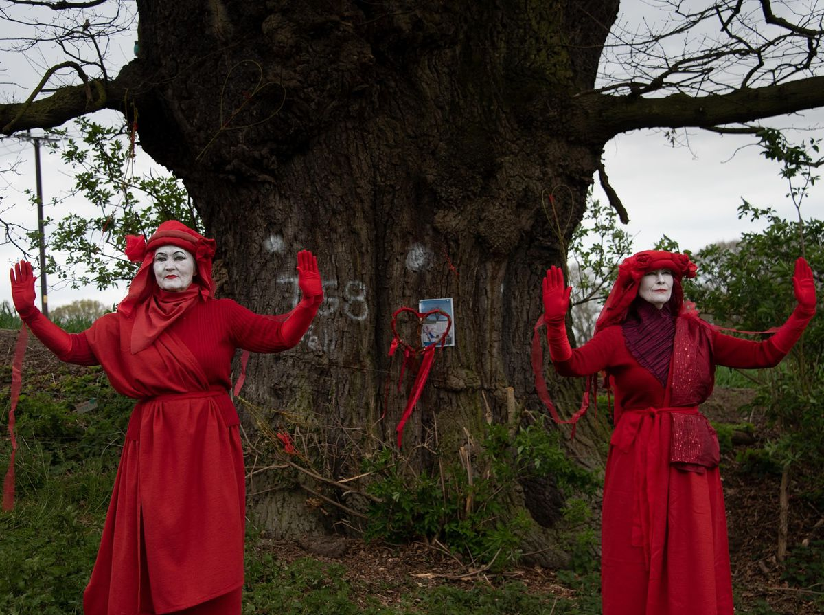 The Red Rebels at the Darwin Oak. Photos Ray Jacobs and Pete Griffith