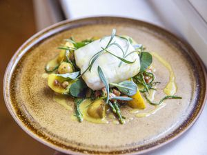 Herb-brined Cornish hake with Jersey Royal potatoes