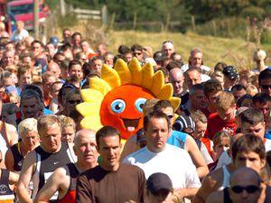The start of the Lake Vyrnwy half marathon in Llanwddyn. NEWS AND SPORT..